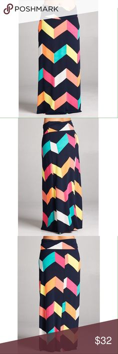 NEW! Colorful Maxi Skirt 95% polyester 5% Spandex. No trades. Skirts Maxi