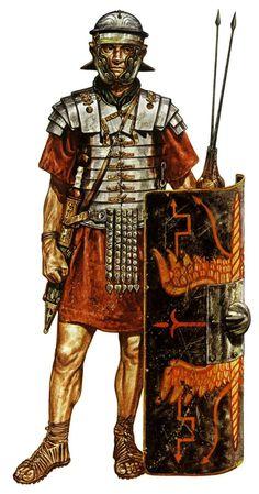 Roman legionnaire that dates between 100-150 A.D.