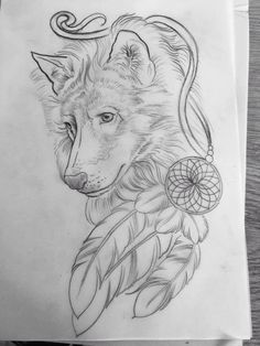 The artwork for my custom wolf tattoo done by Age Grech from Sydney. I've known the wolf was my Spirit animal since I was 17 and despite having 4 other tattoos since then, the right artist for this one didn't come along til now. My love of Native American beliefs saw the dream catcher incorporated and the 3 feathers are for myself and my 2 special souls, my sons.