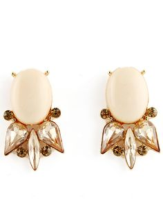 Gold Fashion Diamond Stud Earrings EUR€3.81