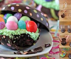 Brownie easter egg   via Facebook