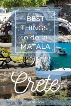 Best things to do in Matala, Crete Mykonos Greece, Crete Greece, Athens Greece, Santorini, Stuff To Do, Things To Do, How To Memorize Things, Good Things, Places To Travel