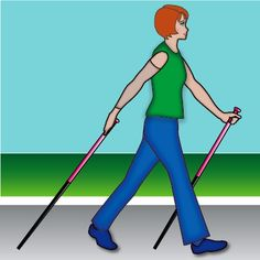 How to Do Arm Lymphedema Exercises: Pole Walking - Standing Exercise