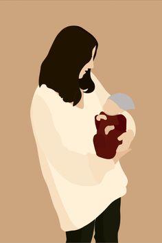 Family Illustration, Digital Illustration, Faceless Portrait, Family Poster, Pregnancy Art, Mother Art, Cute Couple Art, Album Photo, Love Painting