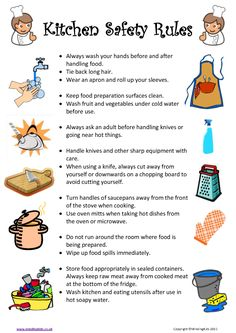 Restaurant Kitchen Rules And Regulations cooking-safety-rules 675×954 pixels | seven week lesson plan