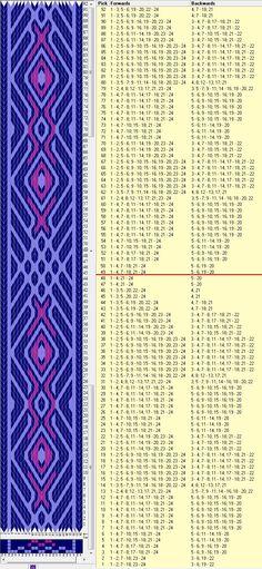 24 tarjetas, 3 colores, repite cada 48 movimientos // sed_597 diseñado en GTT༺❁