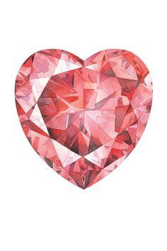 64 ideas tattoo geometric diamond wall art for 2019 Watercolor Print, Watercolor Illustration, Wall Art Prints, Fine Art Prints, Diamond Wall, Heart Print, Texture Art, Art Projects, Gemstones