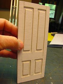 I thought I would show you how to make a simple interior door and jamb from mat board. I took the opening measurement from the Hob...