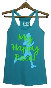 Running Tank Top - My Happy Pace - $17.99