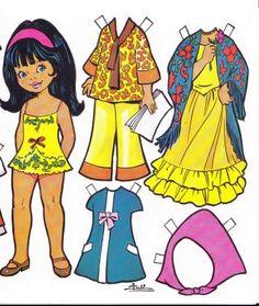 Muñecas de papel  tenia coleccion cuando era niña  uuuuhhh¡¡¡