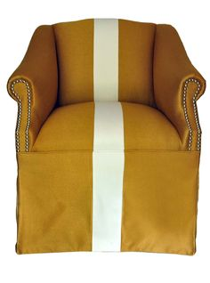 Vintage Gold Skirted Accent Chair. $450.00, via Etsy.