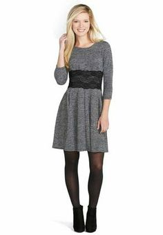 Lace Panel Sweater Dress--This is cute. Possibly a medium. I think...