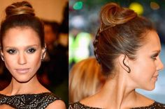 A regular braid is easier to see (esp. in brunette hair) than a French one and much easier to do