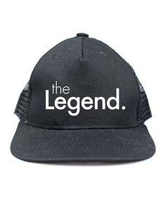Black & White 'the Legend' Baseball Cap - Men's Regular