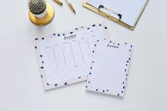 A4 weekly notepad an