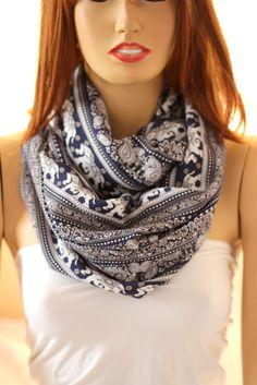 Elephants.. so soft  cotton infinity scarf. Loop scarf  Women Scarf Men Scarf Gift CottonScarf Scarves Elephant on Etsy, $18.90