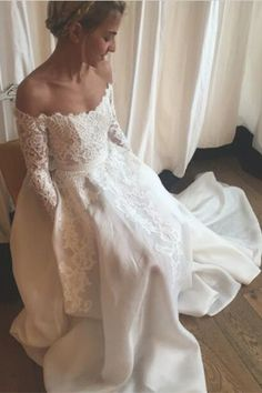 2016 wedding dress, fall wedding dresses, long sleeves wedding dresses, mermaid…