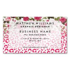 Get customizable Leopard business cards or make your own from scratch! ✅ Premium cards printed on a variety of high quality paper types.