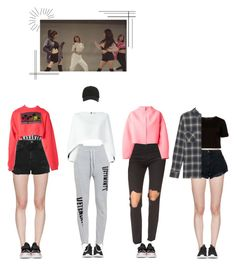 """""""MysTerious- """"Iconic U"""" Dance Practice"""" by mysterious-official ❤ liked on Polyvore featuring Calvin Klein Underwear, Ksubi, MSGM, adidas Originals, J.W. Anderson, Kenzo, Balmain, Versus, Topshop and Ted Baker"""