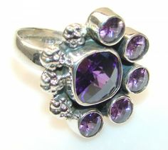 Magnificent Alexandrite Quartz Sterling Silver ring s. 8 1/4 - 9.80g | $50.92 best price at Silver Rush Style!