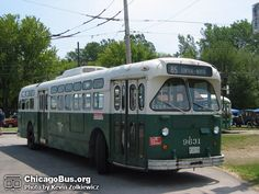 Trolley bus like ones on Pulaski Rd., Chicago