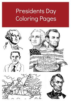 Presidents Day coloring pages All the US presidents