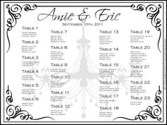tables wedding seating chart 300x225 tables wedding seating chart