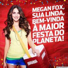 Megan Fox confirmada no Camarote da Brahma!!! o/ #sualinda #brahma #camarote :) Samba, Brahma, Beer Girl, Beer Poster, Fox, Photography, Hell Girl, Girls Girls Girls, Eyebrow