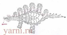 Crochet Dinosaur and Dragon Applique Patterns Dragon En Crochet, Marque-pages Au Crochet, Crochet Motifs, Crochet Diagram, Basic Crochet Stitches, Crochet Chart, Crochet Basics, Thread Crochet, Crochet Toys
