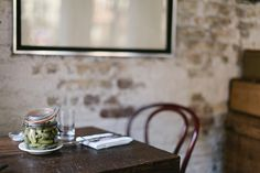 brown dress with white dots Food Inspiration, Kitchen Inspiration, Food Photography Styling, I Want To Eat, Exposed Brick, Brown Dress, Wood And Metal, Pickles, Sweet Home