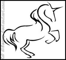 Unicorn Outline - AZ Coloring Pages Future Tattoos, New Tattoos, Tribal Tattoos, I Tattoo, Unicorn Outline, Unicorn Drawing, Larp, Sewing Tattoos, Unicorn Tattoos