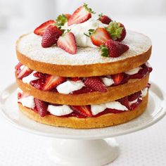 This three-tier stunner, alternating peak-season berries with light and spongy cake, only looks intimidating  and decadent.