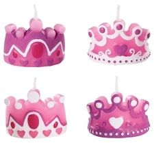 Candles for a cake. So very royal. So very pink!