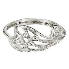 Sterling Silver Angel Wing Ring in Size 5 Silver Jewelry Cleaner, Cleaning Silver Jewelry, Silver Jewelry Box, Sterling Silver Necklaces, Silver Earrings, Keep Jewelry, Fine Jewelry, Jewelry Rings, Jewellery