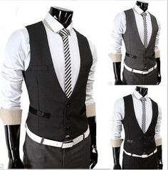 Men Slim Fit Dressy Vest