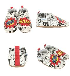 Love these new superhero baby shoes from Robeez!
