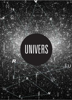 "This is the second of this typestyle that I have pinned and it's even better than the first. Love, love, love the play on the ""universe"" concept. A very outer space look. Makes it look like you're staring at billions of stars."