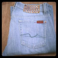 """7 for all mankind flip flop jean Inseam 30""""  Bootcut SIZE 26 Excellent Condition 7 for all Mankind Jeans Boot Cut"""