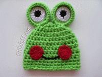 Smiling Newborn Frog Hat