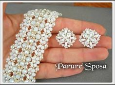 Beaded Necklace Patterns, Jewelry Patterns, Bracelet Patterns, Beaded Earrings, Beaded Jewelry, Jewellery, Jewelry Making Tutorials, Jewelry Making Beads, Handmade Bracelets