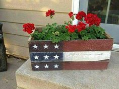Flag flower pot