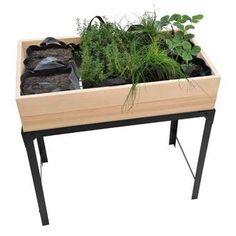 Table de culture Métal à rebords + 8 compartiments Feutre étanche 88x46cm Jany port offert Table Design, Veggie Gardens, Dining Table, Felt, Furniture