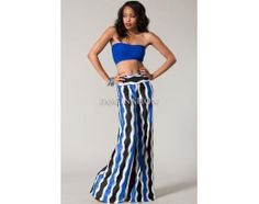 Intricate striped palazzo pants with unique fabric print