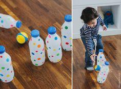 Customizando garrafas para boliche | Customizing plastic mild bottle for a bowling game