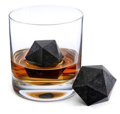 They're 4oz d20s made of soapstone and you just keep them in your freezer then toss them in your drink when the need arises.