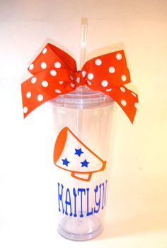 Cheerleading Tumbler 20oz by GameDayGirlsandGifts on Etsy, $18.00