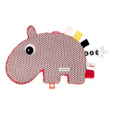Plush Pacifier Attachment - Ozzo the Hippo Done by deer Teen Baby Children- A large selection of Design on Smallable, the Family Concept Store - More than