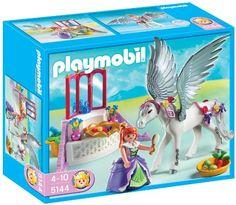 Playmobil – 5144 – Jeu de construction – Cheval ailé et coiffeuse de princesse   Your #1 Source for Toys and Games
