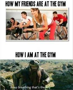 like I go to the gym...