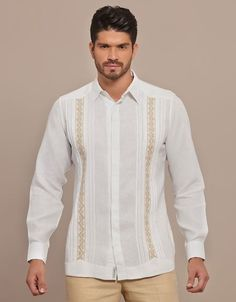 Quality and comfort with a memorable design style for your big day! Class comfort and craftsmanship means you wear nothing but the best. This is a Formal Guayabera Shirt soft and elegant. Exquisite design for a destination wedding events and festivities. Guayabera Wedding, Wedding Waistcoats, Beach Wedding Attire, Wedding Suits, Destination Wedding, Formal Wedding, Wedding Ideas, Father Of The Bride Attire, Guayabera Shirt